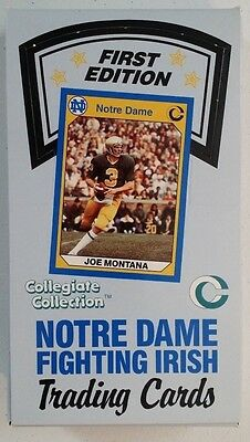 Notre Dame first edition collegiate collection trading cards box (1991)
