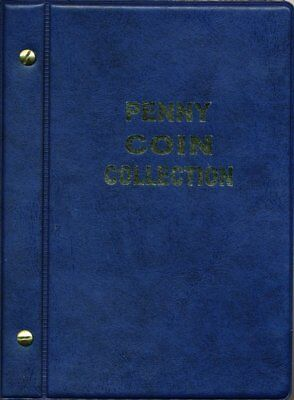 VST Australian Penny Coin Album 1911 to 1964 - Blue Cover **FREE POSTAGE**