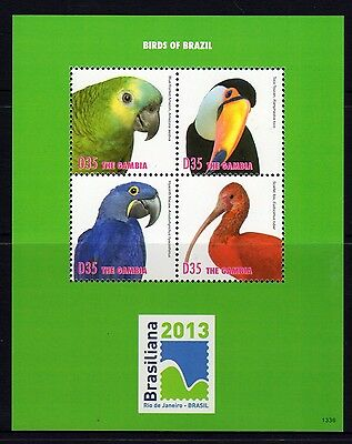 Gambia 2013 Birds Sheetlet 4 MNH