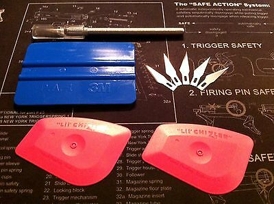 3M Squeegee Lil Chizler #11 Razor Knife Tool Kit Blades Vinyl Signs Hobby Craft
