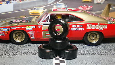 "1/32 URETHANE SLOT CAR TIRES 2pr PGT-22103XD ""Soft"" fit CARRERA Historic Nascar"