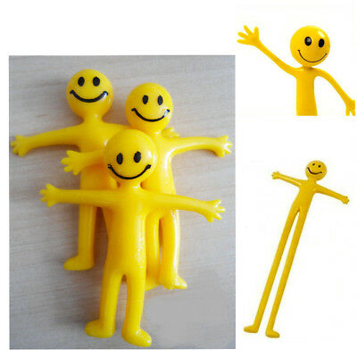 Stretchy Men Fun Smiley Party Bag Filler Kid's Hand Out Stretch Man Toy 6,12,24