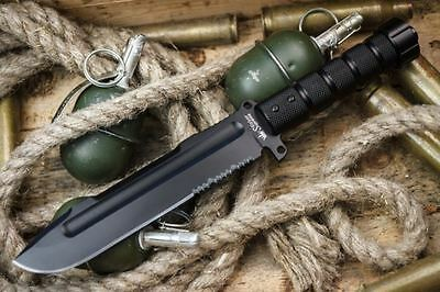 Kizlyar Supreme Survivalist Z Fixed Blade Knife Aus 8 Steel Black Blade Russian