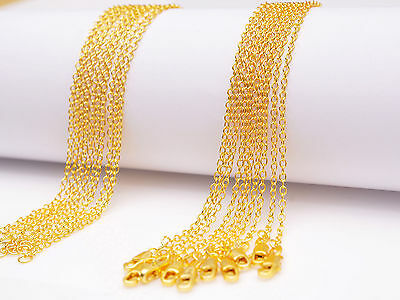 """Wholesale 16-30"""" 10PCS 18K Yellow GOLD Filled Rolo CHAIN NECKLACES For Pendant"""