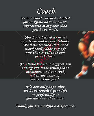 To Our Wrestling Coach Personalized Print Poem End Of The Year Appreciation Gift