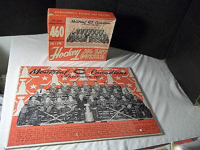 VINTAGE 1953 MONTREAL CANADIENS HOCKEY TEAM Puzzle in BOX Stanley Cup Champs