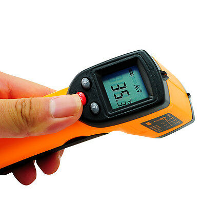 Infrared Temperature Gun Thermometer Laser Point Infrared Thermo Detector top