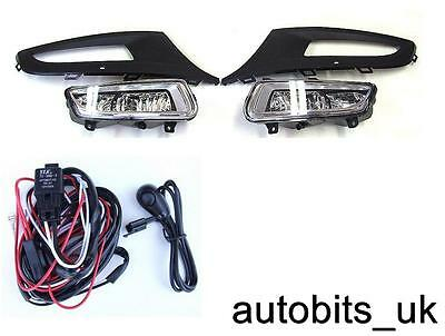 Front Bumper Fog Light Grill Lamps L&r For Vw Polo Mk8 6R 2009-2014 + Wiring Kit