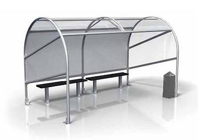 Open Fronted Smoking Shelter includes benches Cigarette Bin 4m x 2m Smoking Ban