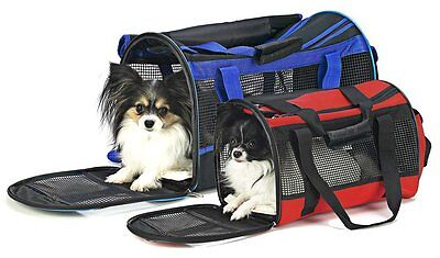 Ethical Pet Carryall Small Pet Dog  Carrier Bag  Lightweight, Blue or Red