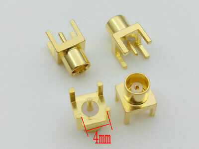 500PCS brass RF Coaxial Connector MCX female Straight PCB Mount adapter