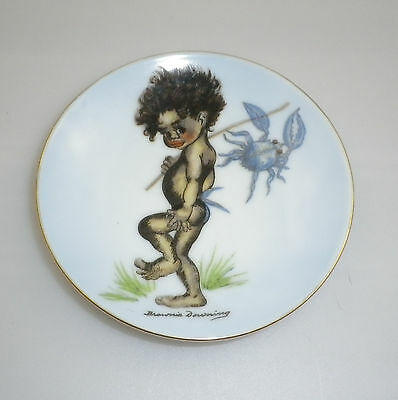 Brownie Downing 1950's pin dish of an Aboriginal Child carrying a Crab
