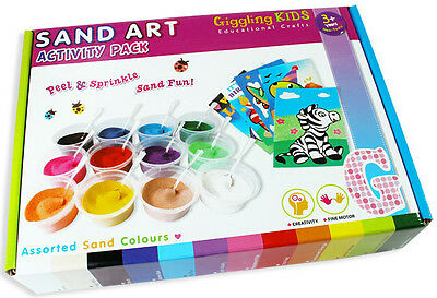 Girls Sand Art, Kids Craft Kit: 22 Designs, 12 coloured sand, FreeExpress Post