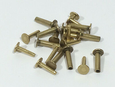 Cutlers Rivets - Brass - French Made - 6 x 10mm - 10 sets - H0091