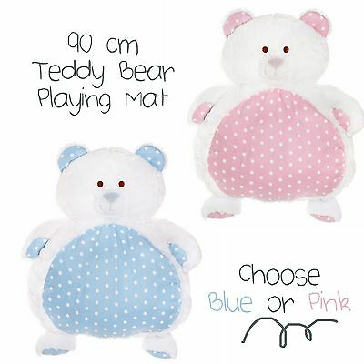 Large Teddy Bear Playing Mat Newborn Baby Shower Gift Boy Girl Unisex Bubba Mats