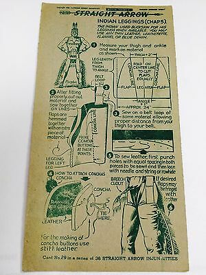 1952 Nabisco Straight Arrow Indian Leggings (Chaps), Book 3, Card 29/36 Series