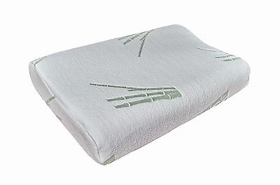 Therapeutic Bamboo Latex Foam Pillow Contoured Dual Support Zone 60x40x12/10cm