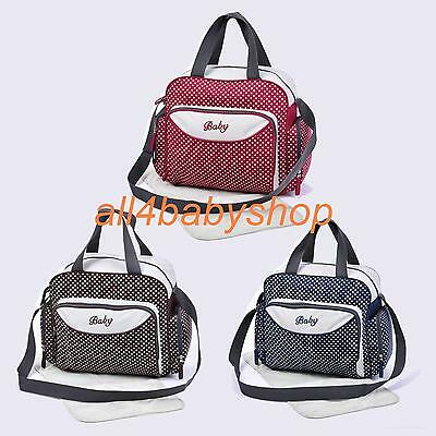 New Born Baby Nappy Changing Bags Diaper Bag Grey/Polka Dots Design 6600