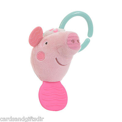 Peppa Pig Activity Teether Baby Pink Pram Toy Cot Gift Newborn Babies