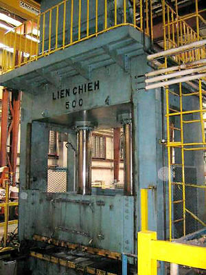 "500 TON LIEN CHIEH ""LHS500-2800x2200"" STRAIGHT-SIDE HYDRAULIC PRESS - #25915"
