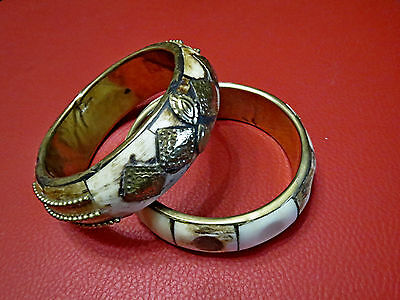 Antique Ottoman Bone With Brass Bracelet 18 Century