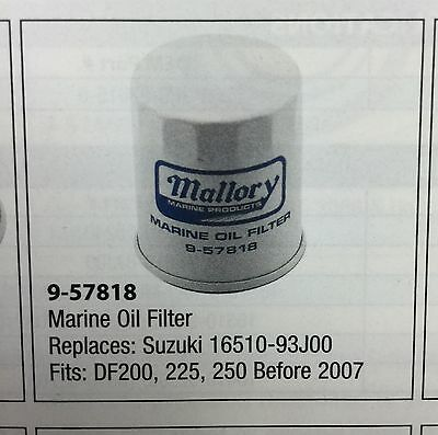 9-57818 Mallory Marine Oil Filter