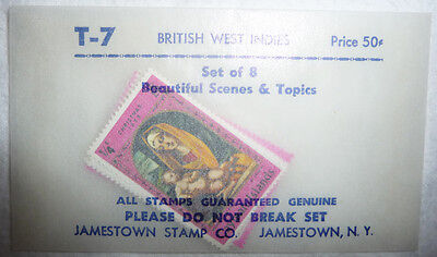 Postage Stamps Lot 8 British West Indies Dominica Antigua Grenada + Uncancelled