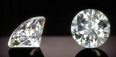Matching Pair of 4.00ct Round Brilliant Cut Single Loose Diamond 2.00ct Each 8mm
