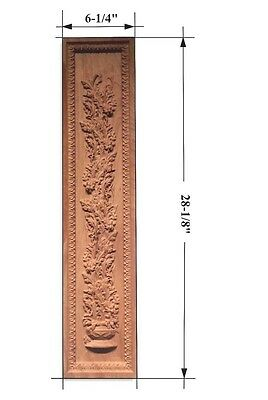 "Hand Carved Solid Hardwood Applique/Wall Plaque 28""Tall"