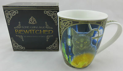 "Lisa Parker ""Bewitched"" Black Cat Bone China Mug, Fantasy"