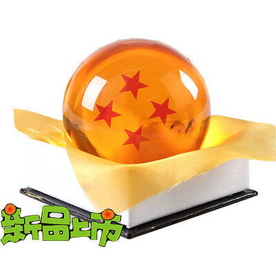 "Dragon Ball DragonBall Z Crystal Ball 4 Star Diameter 3""/7.5cm Ball New in Box"