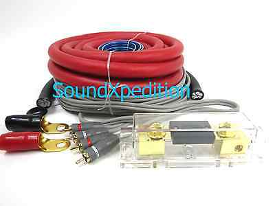 0 Gauge Amp Kit Amplifier Install Wiring Complete 0 Ga Installation Cables 6500W