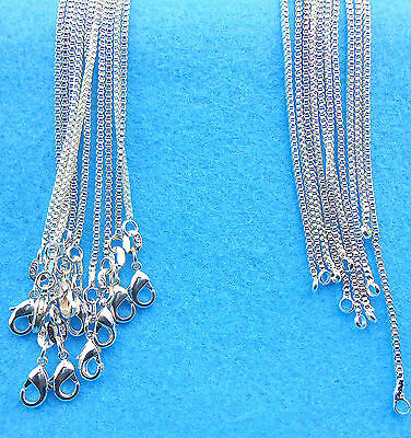 5PCS Wholesale Fashion jewelry 925 Sterling Silver Plated Box Necklaces Chain