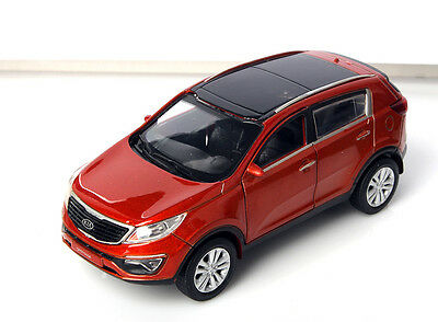 KIA SPORTAGE R 2013 Orange/Diecast/Front door open/Pul back