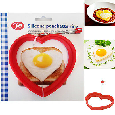 TALA Poachette Ring Silicone Heart Shaped Mould Kitchen Tool Poached Egg Pancake