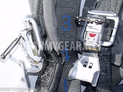 New 2012 Military T10 D Parachute Bag Packtray Complete Harness Assembly Risers