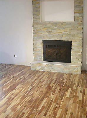 "Prefinished 2-1/8"" Slim Solid  Acacia Walnut Wood Hardwood Floor Flooring Sample"