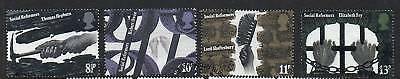 GB 1976 Social Reformers fine used set stamps