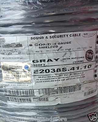 General Cable/Carol E2038S 18/8C Stranded Shielded Media/Comm Wire USA CMR /40ft