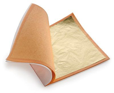 25 Edible Gold Leaf Sheets 99.9 - 24K  8x8 cm - Gilding, Food Decorating, Art