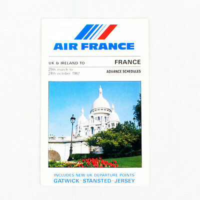 Air France - 29 March To 24 october 1987 - Airline Timetable