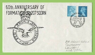 GB 1976 60th Anniv of Formation of No 207 Squadron Commemorative Cover BFPS h/s