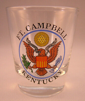 Fort Campbell MILITARY Collectible SHOT GLASS Kentucky