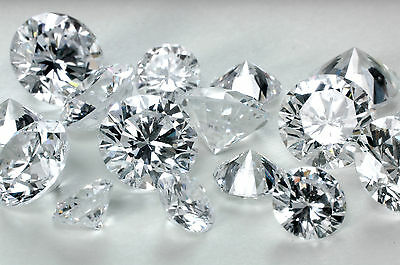 2.50ct Round Ideal Cut Simulated Loose Diamond 5 pcs VVS1-D 0.50ct Each Stone