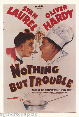Poster :movie Repro: Nothing But Trouble - Laurel & Hardy -  #ae6354 Rw24 R