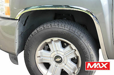 FTCH204 07-13 Chevy Silverado 1500/2500 HD POLISHED Stainless Steel Fender Trim
