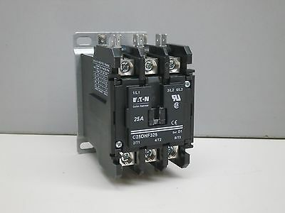 Cutler Hammer C25DNF325 Definite Purpose Contactor 3P 110/120V 25A Ind. 35A Res.