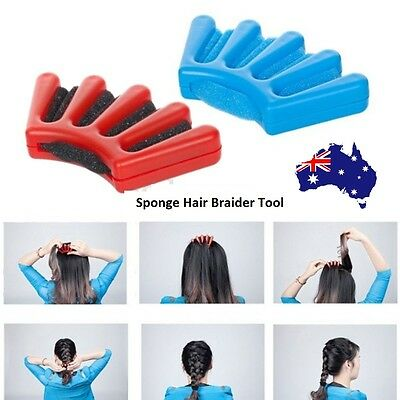 Sponge Hair Braider Plait Twist Styling Braiding Machine Quick French Braid Tool