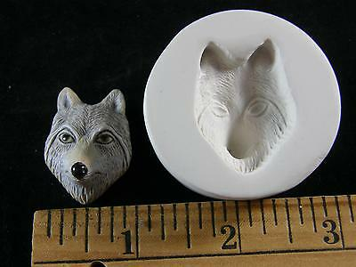 Wolf Face (Med) Polymer Clay Mold (#MD1398)
