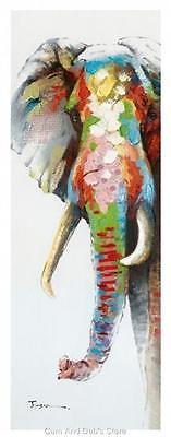 Elephant Stretched Canvas Colourful Print Picture Wall Art 150 cm